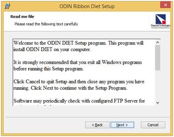 Odien Diet Installation step-5